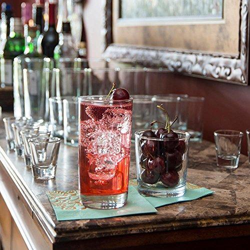 Anchor Hocking-Set of 12 Heavy Base Highball Drinking Glasses 15 oz