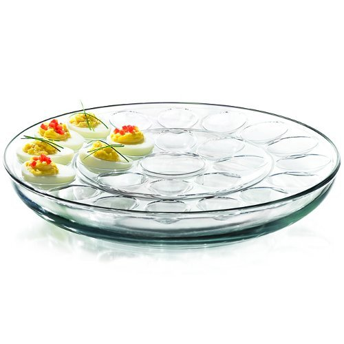 Anchor Hocking-Presence 3-Piece Multi-Use serving Tray-Deep Serving Tray with Egg Insert and Veggie Insert