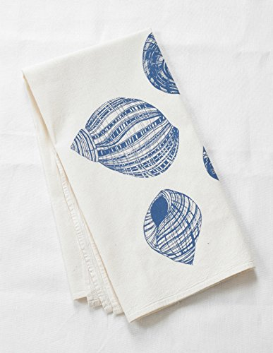 Hearth and Harrow-Periwinkle Shell Flour Sack Towel in Blue-violet