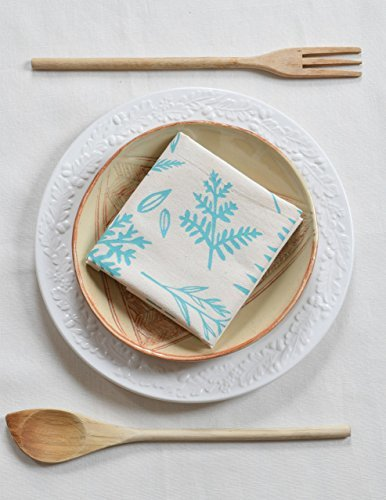 Hearth and Harrow-Set of 4  Organic Cotton Cloth Napkins