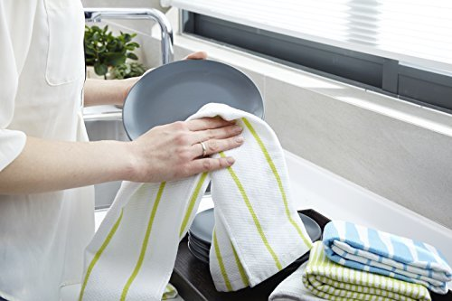 Full Circle-Organic Cotton Modern Kitchen Towel - Sunset Blue