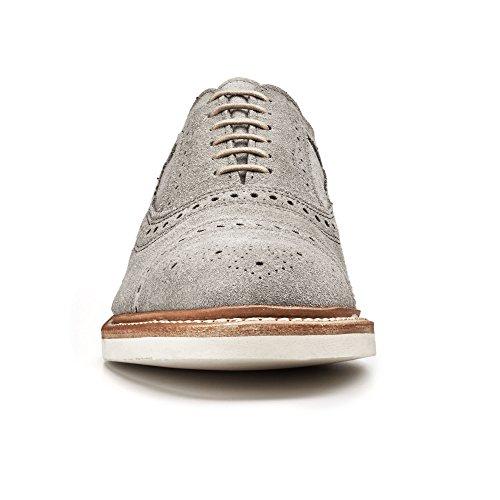 Allen Edmonds-Allen Edmonds Men's Strandmok 2.0 Suede Cap Toe 12 D(M) Men 8252 Grey Suede Oxfords Shoes
