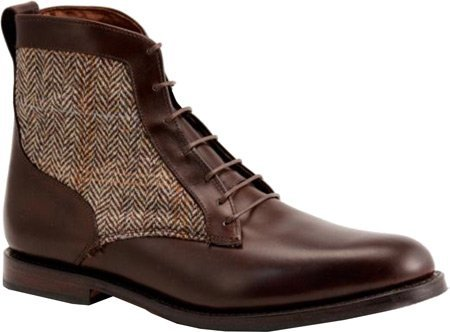 Allen Edmonds-Allen-Edmonds Men's Shaker Heights Brown Leather/Tan Tweed Boot 9.5 D (M)