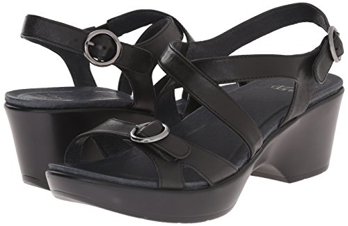 Dansko-Dansko Women's Julie Wedge Sandal, Black Full Grain, 39 EU/8.5-9 M US