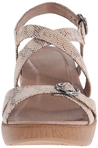 Dansko-Julie Taupe Snake Wedge Sandal