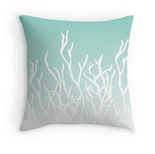 Mallory Lynn Decor-Coral Ombre Pillow Cover - Aqua