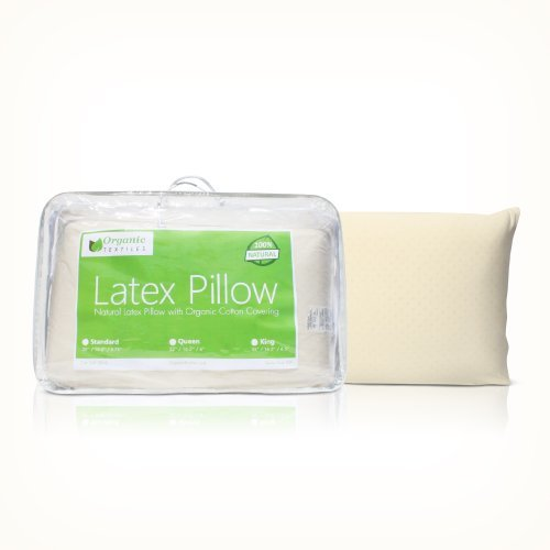 OrganicTextiles-All Natural Latex Pillow With Organic Cotton Outer Covering Standard - Firm
