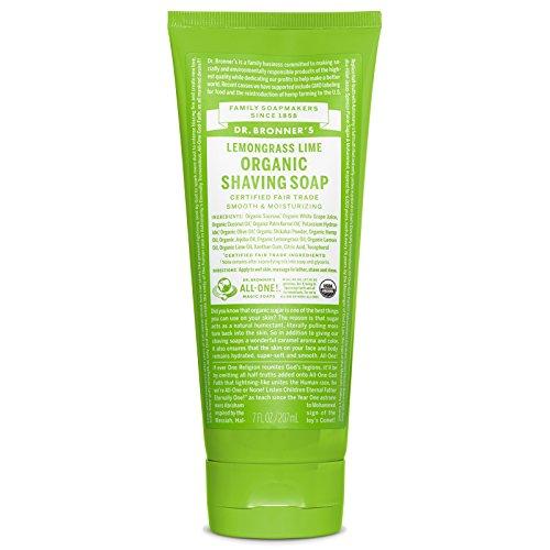 Dr. Bronner's-Shaving Gel, Lemongrass Lime