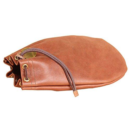 Col. Littleton-Leather Drawstring Bag Pouch