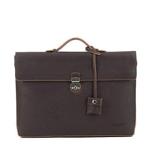 LOTUFF-Leather Dandy Slim Formal Briefcase