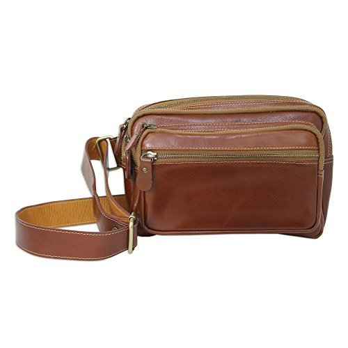 NOVICA-Light Brown Leather Waist Pack