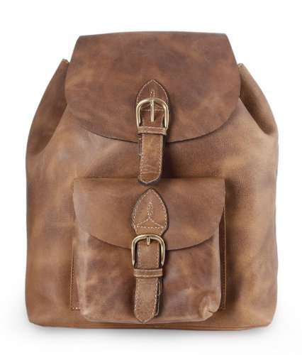 NOVICA-Leather Travel Backpack