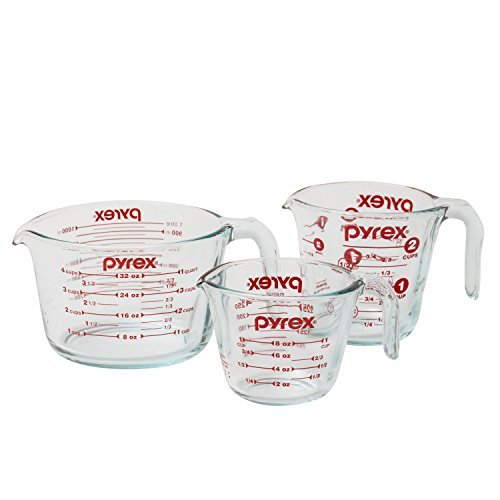 Pyrex-3-Piece Glass Measuring Cup Set