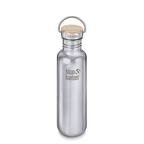 Klean Kanteen-18oz Reflect Stainless Steel Water Bottle with Bamboo Cap