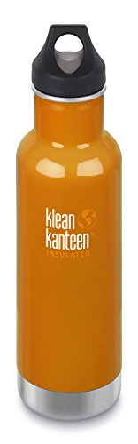 Klean Kanteen-Canyon Orange Classic Vacuum Insulated Storage with Loop Cap