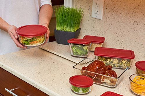 Anchor Hocking- 16-Piece Set Classic Glass Food Storage Containers with Lids