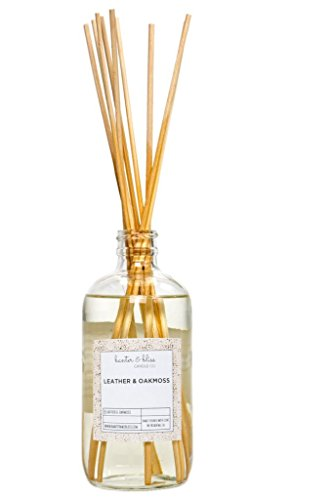 Banter & Bliss Candle Co.-Banter & Bliss Leather and Oakmoss Reed Diffuser