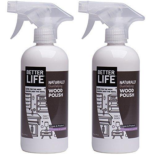 Better Life-2 Pack Wood Polish - Cinnamon & Lavender