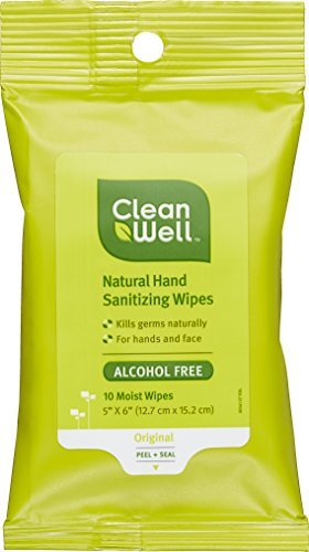 Cleanwell-Natural Hand Sanitizing Wipes - Original Scent