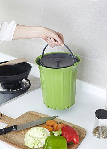 Full Circle-Fresh Air Odor-Free Kitchen Compost Bin - Green Slate