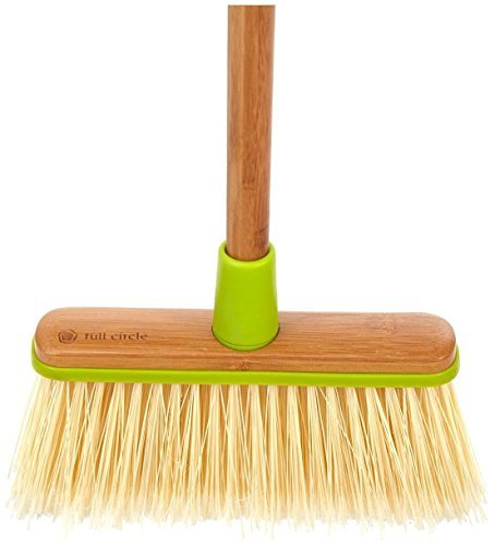 Full Circle-Clean Sweep angled broom with bamboo handle