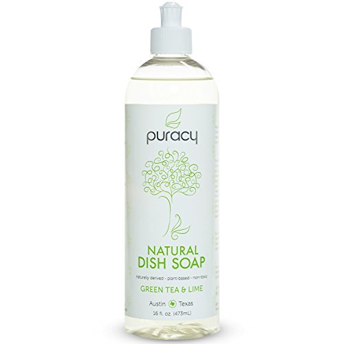 Puracy-Natural Liquid Dish Soap, Sulfate-Free Dishwashing Detergent - Green Tea and Lime