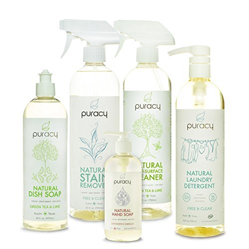 Puracy-5 Pack Natural Home Cleaning Essentials Set