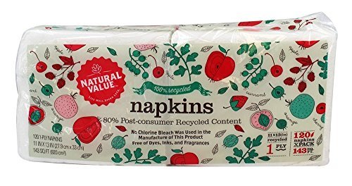 Natural Value-100% Recycled Napkins