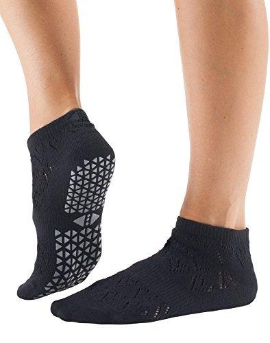 Tavi Noir-Lily Low Rise Grip Socks - Love Ebony