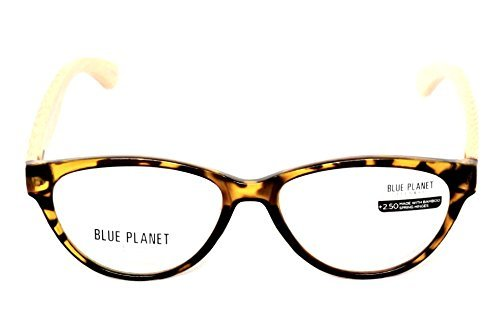 46de2eb98b BLUE PLANET Reading Glasses Eco Friendly Women Sustainable Bamboo Ladies  Designer Eyeglasses Honey Tortoise +1.25