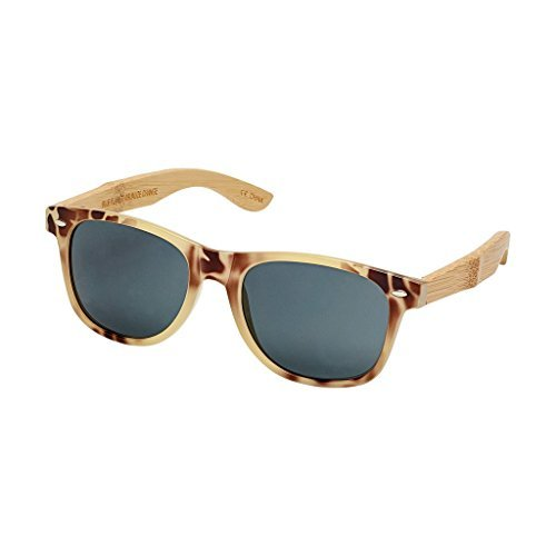 Blue Planet-Ivory Tortoise Natural Bamboo Sunglasses