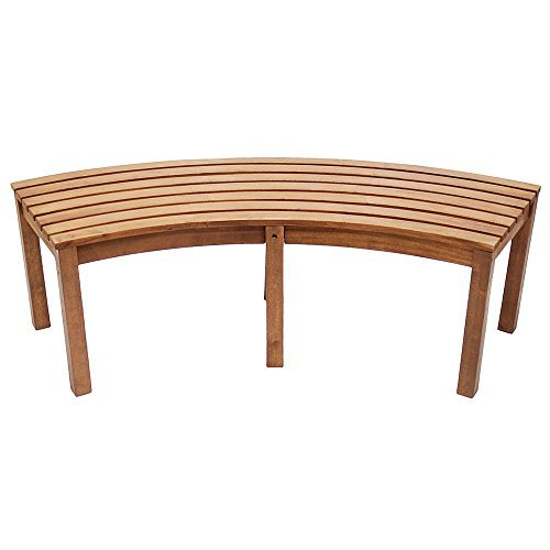Achla-Curved Backless Bench