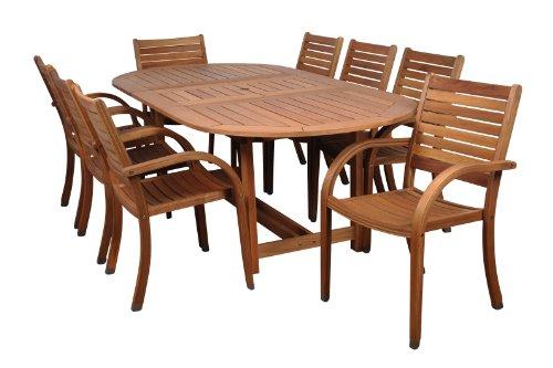 Amazonia-Arizona 9-Piece Eucalyptus Oval Dining Set