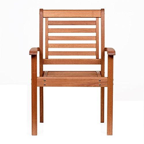 Amazonia-Stackable Eucalyptus Chair