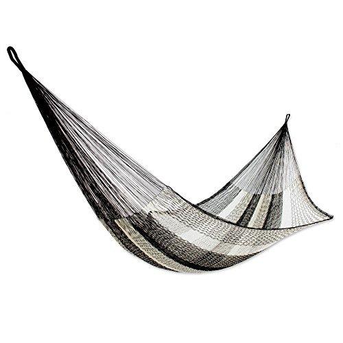 NOVICA-Mayan Hammock Night Stripes