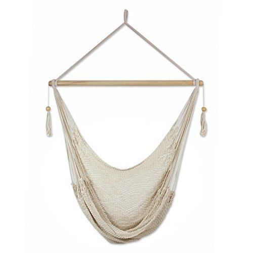 NOVICA-Cotton hammock swing - Ocotal Sands