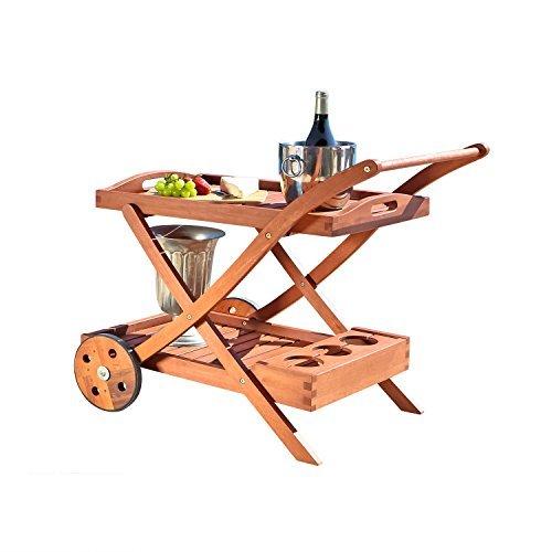 Vifah-Outdoor Wood Serving Cart