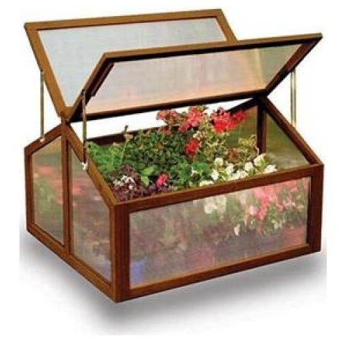 Gardman-7650 Large Wooden Cold Frame Greenhouse