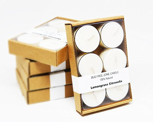 Pure Palette Scents-5 pack of 6 Lemongrass Citronella Soy Candle Tea Lights