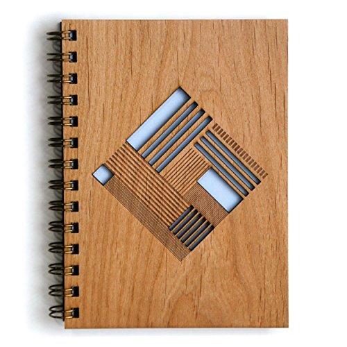 Cardtorial-Quilt Diamond Laser Cut Wood Journal