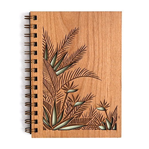 Cardtorial-Birds of Paradise Laser Cut Wood Journal