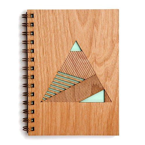 Cardtorial-Geometric Pyramid Laser Cut Wood Journal