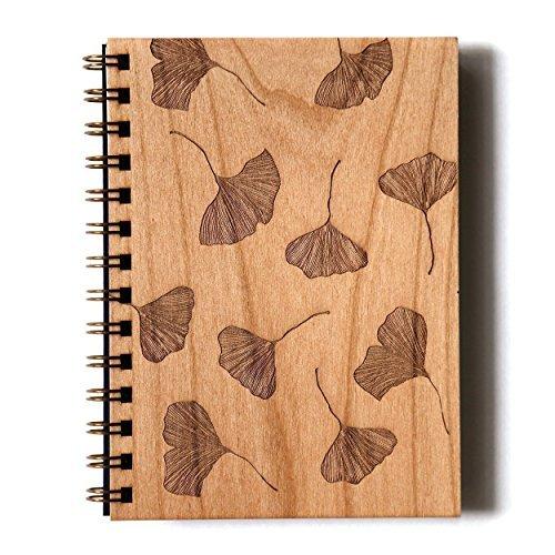 Cardtorial-Ginkgo Laser Cut Wood Journal