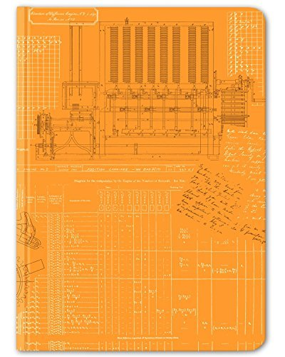 Cognitive Surplus-Orange Technical Diagram Difference Engine Notebook