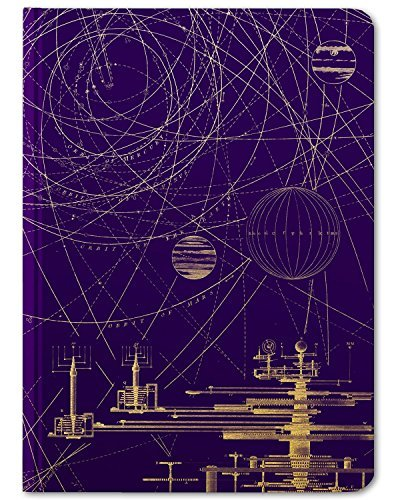 Cognitive Surplus-Purple Planetary Motion Astronomy Illustration Notebook