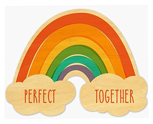Night Owl Paper Goods-Perfect Together Real Wood Love Card