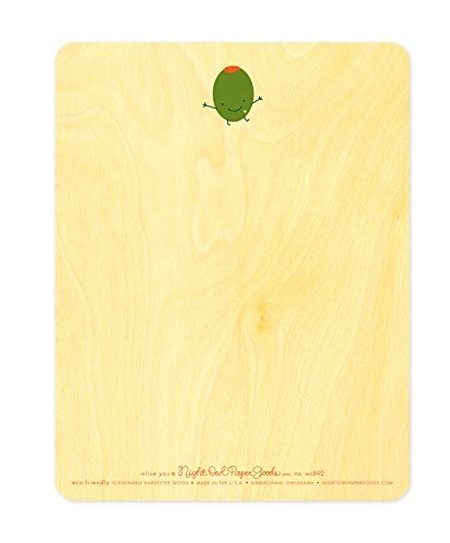 Night Owl Paper Goods-Olive You Wood Love Card