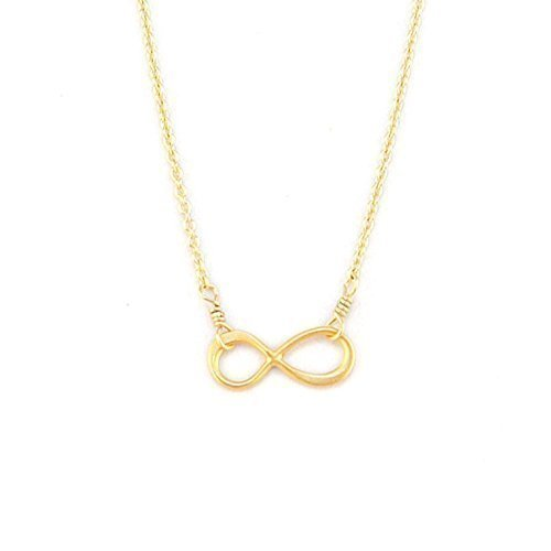 Adorn512-Handmade Gold Infinity Necklace