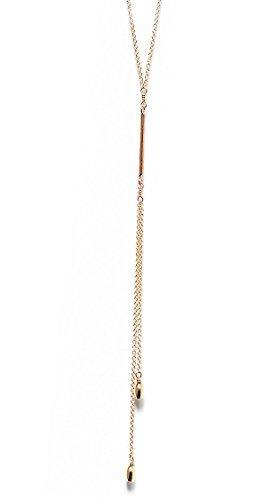 Adorn512-Gold Bar Lariat Necklace