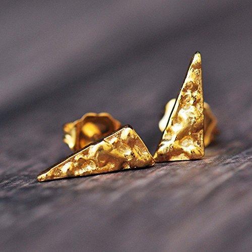 Amanda K Lockrow-14K vermeil triangle studs